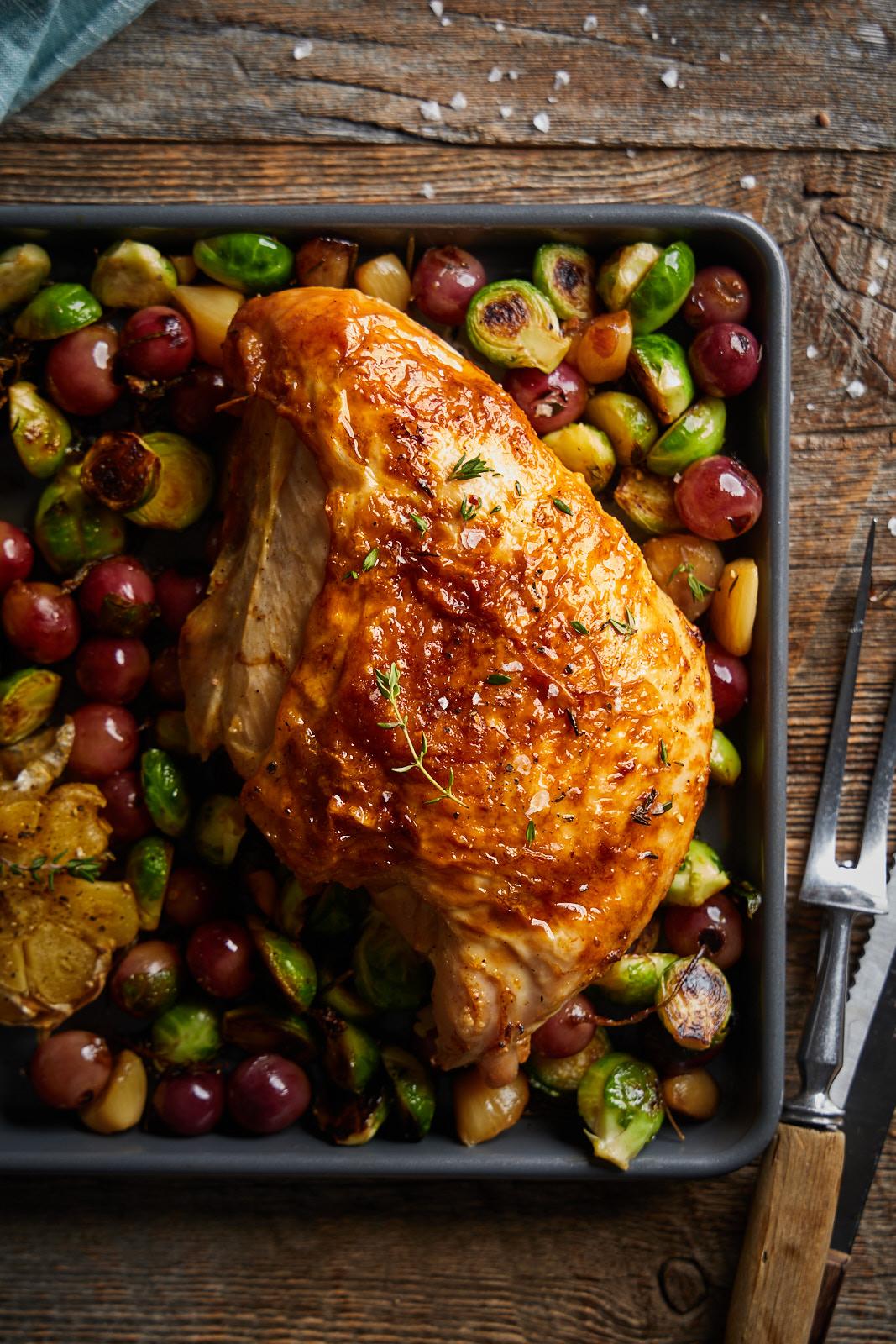Juicy Simple Roasted Turkey Breast