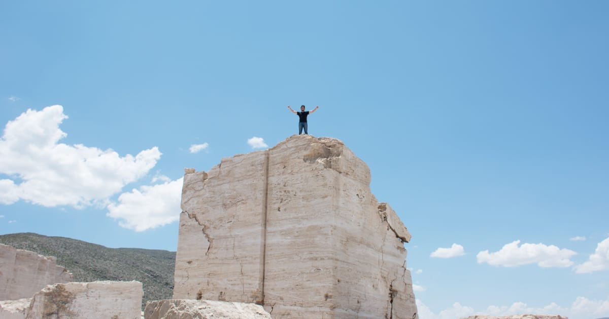 Me on top of the stone
