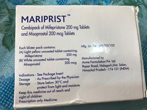 Mariprist Abortion Pill