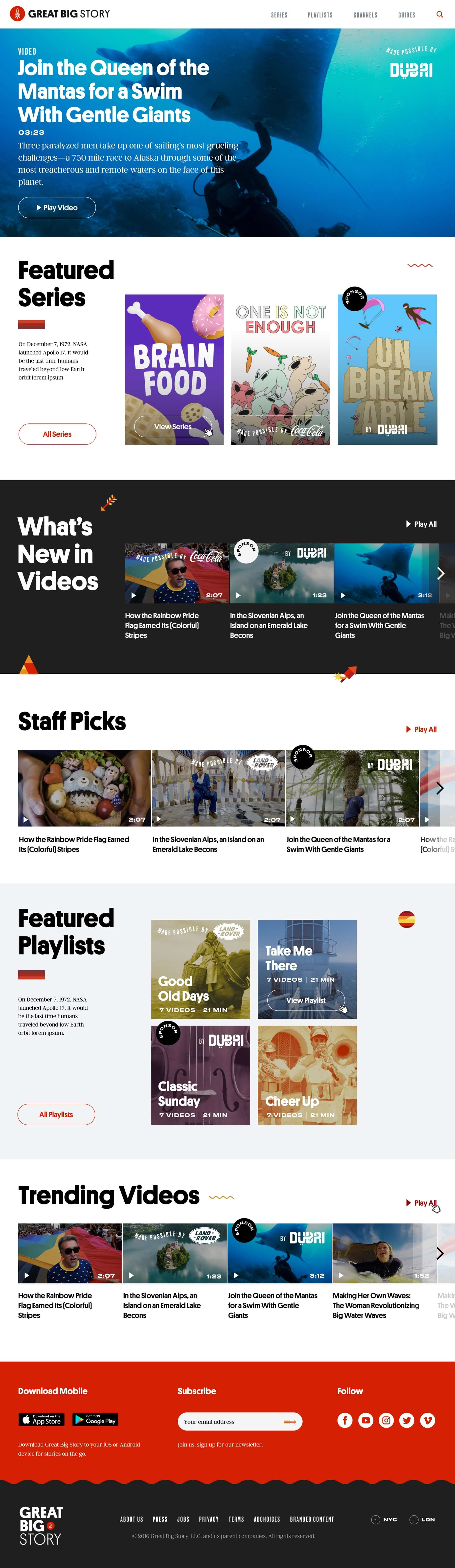 Great Big Story video platform image desktop