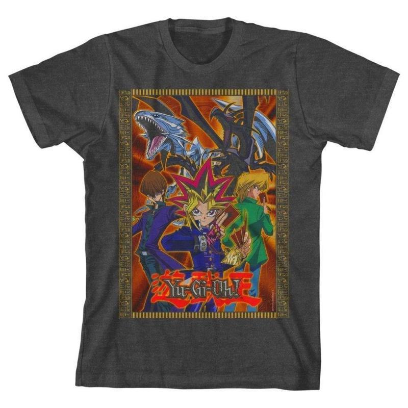 Yu-Gi-Oh Grey T-shirt Boys Youth