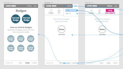 linked prototype in Adobe XD
