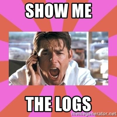 show me the logs meme
