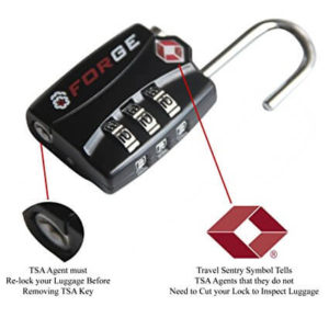 Forge TSA Locks 2 Pack - Open Alert Indicator, Alloy Body with Lifetime Warranty secutiry features