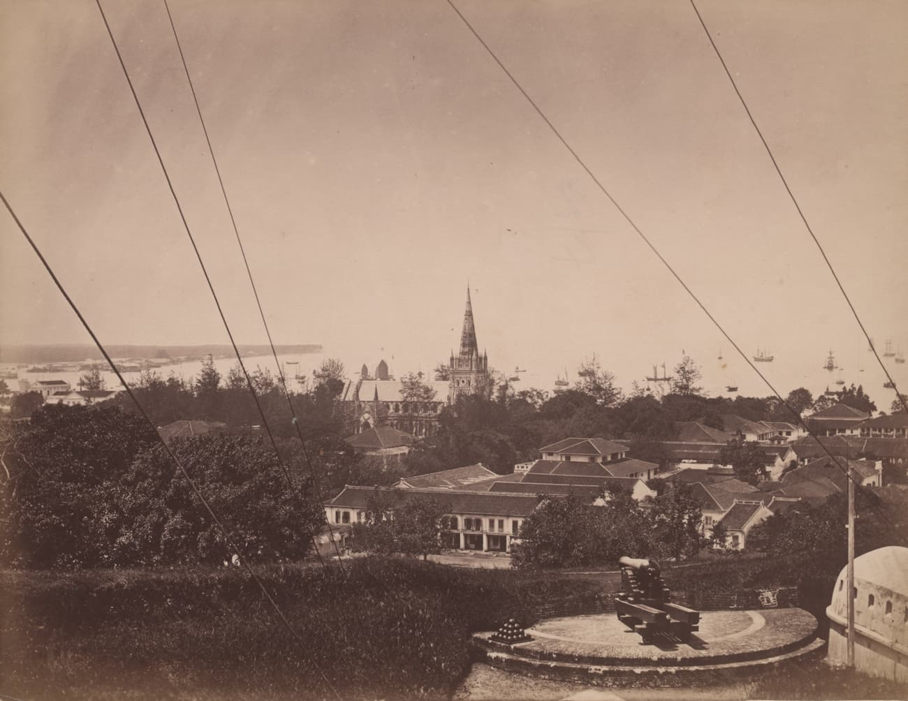 View from Fort Canning Hill, 1870s
