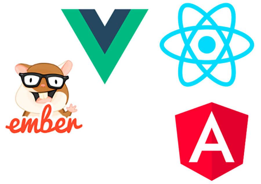 Frameworks e libs javascript: AngularJS, ReactJS, VueJS, Ember