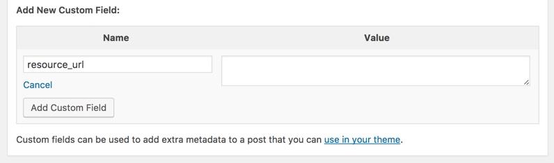 Adding a custom field to a WordPress page.