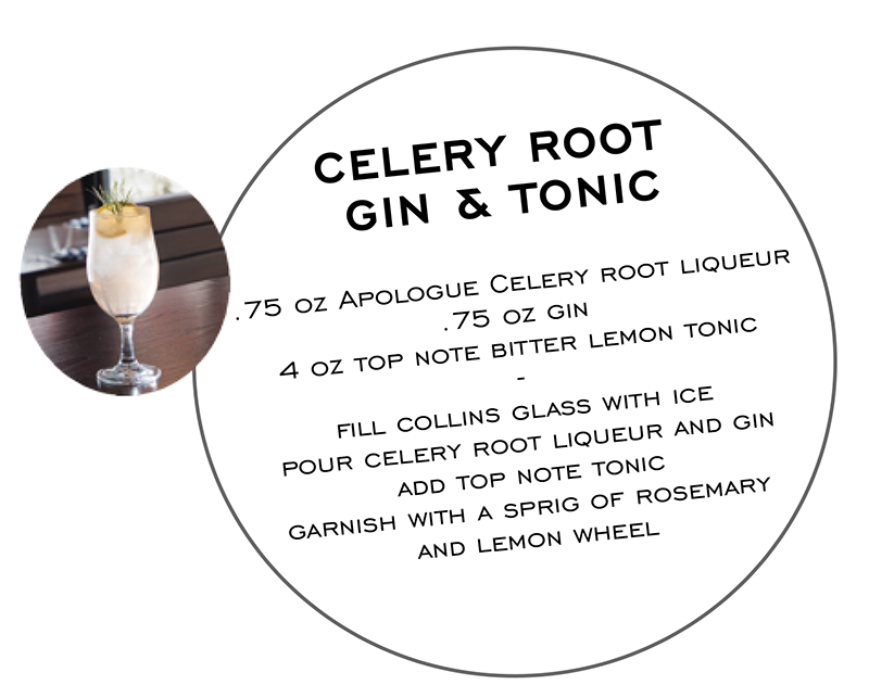 Celery Root Gin and Tonic