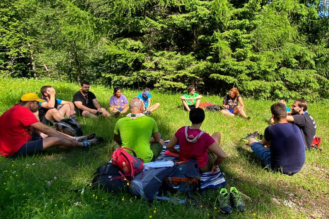 Una foto di gruppo del mio Clan durante una route