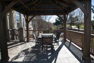 The back porch patio.