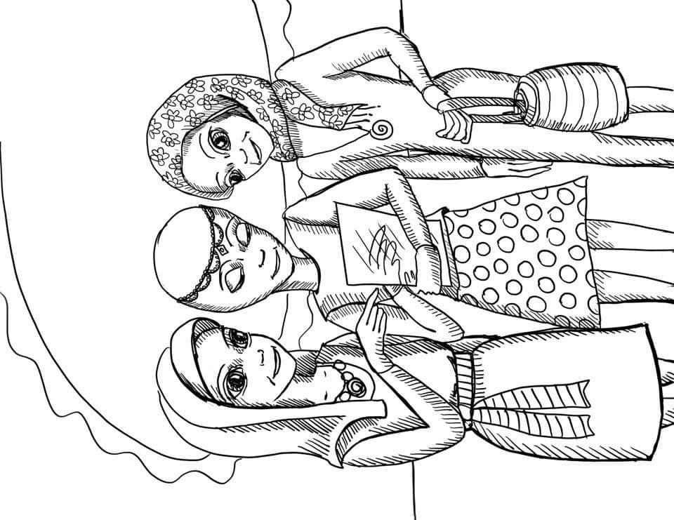 P'nti Girls Coloring Page