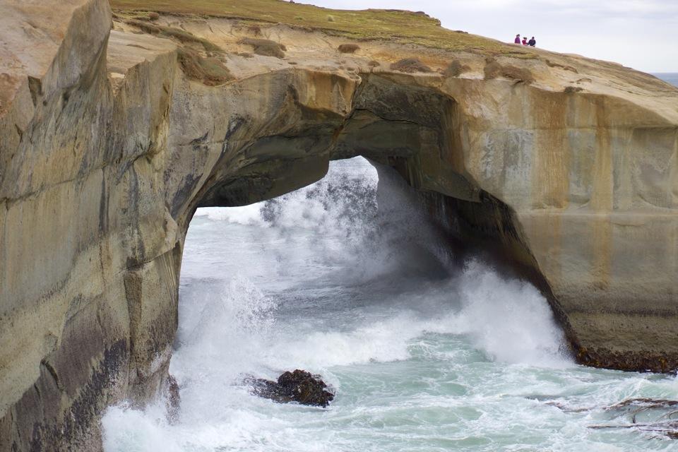 Tunnel Beach crashing waves