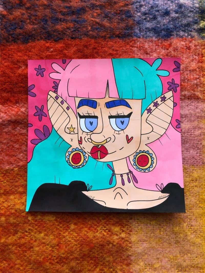 your goth neighbour ♡ 6x6