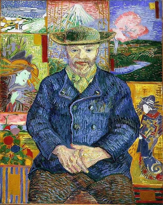 Portrait of Père Tanguy by Vincent Van Gogh, 1887. Musée Rodin, Paris