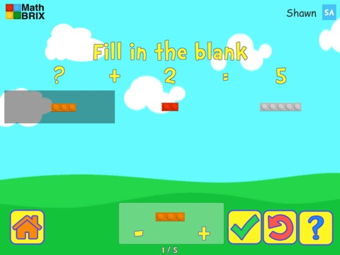Make 5 by adding brix (friends of five) Math Game