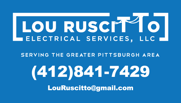Lou Ruscitto blue business card