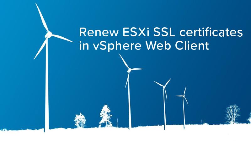 Renew ESXi SSL certificates in vSphere Web Client - logo