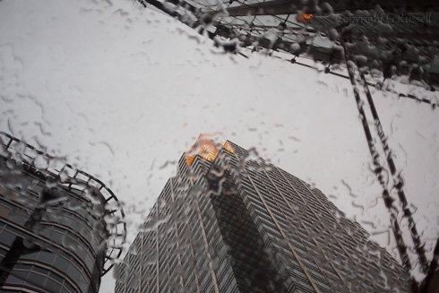 Canary Warf Rain