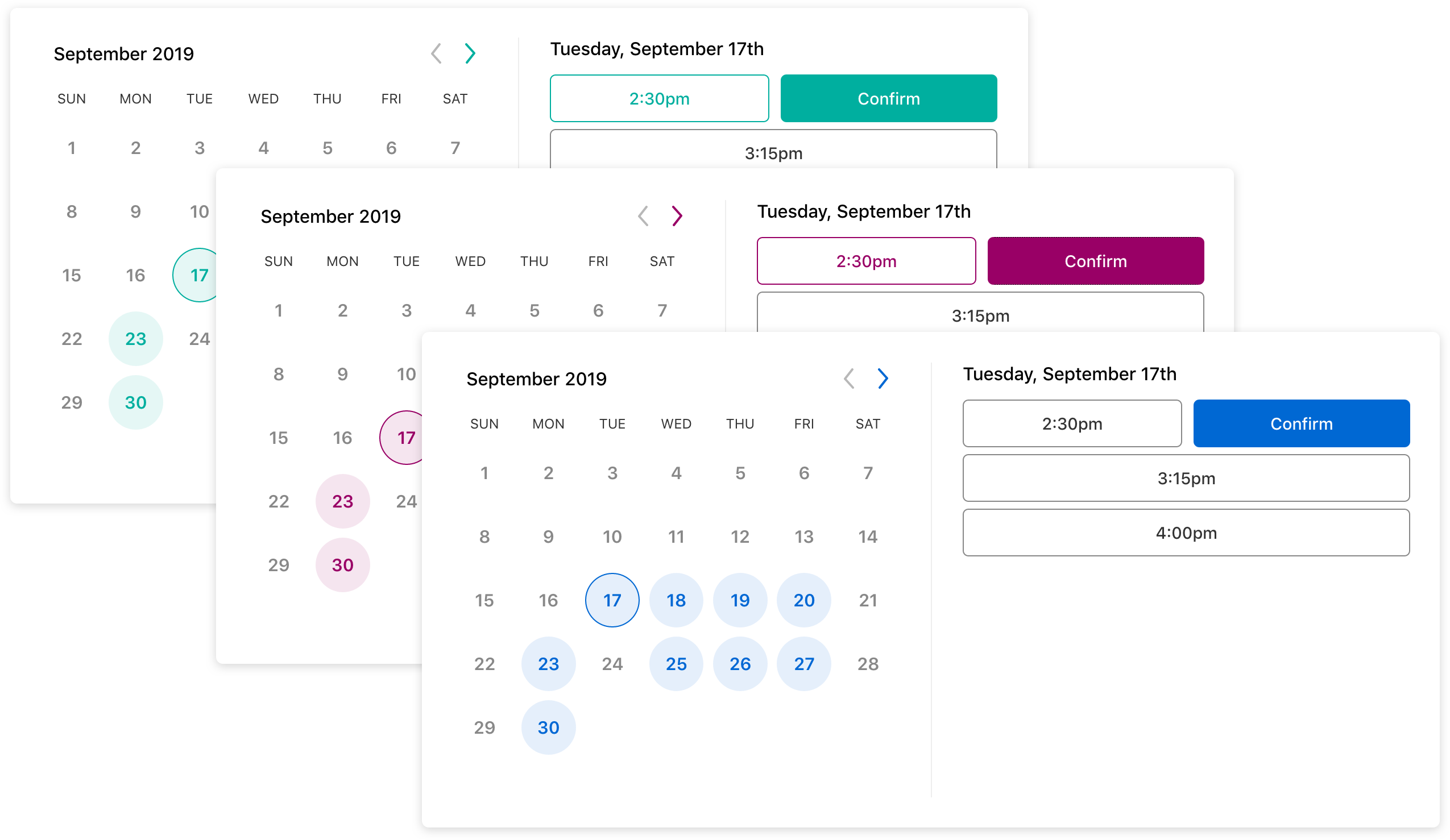 Scheduler Custom Theme Color
