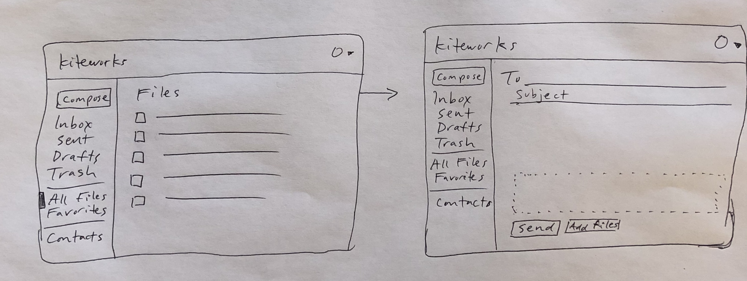 sketches for file sharing app