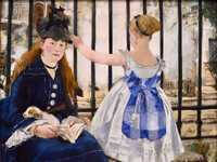 Manet's painting of a mother and daughter at the Gare Saint Lazare was produced in 1873