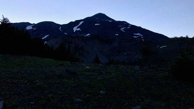 Middle Sister, as seen before dawn