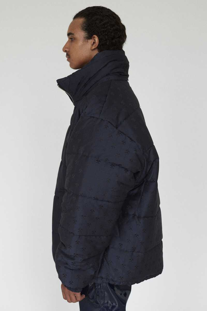 DEBS GMBH AW19 PUFFER JACKET NAVY SIDE