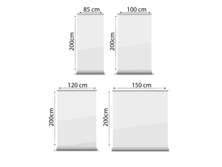 Mobilių reklaminių stendų dydžiai