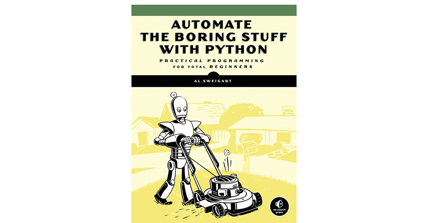 Automate the Boring Stuff book cover