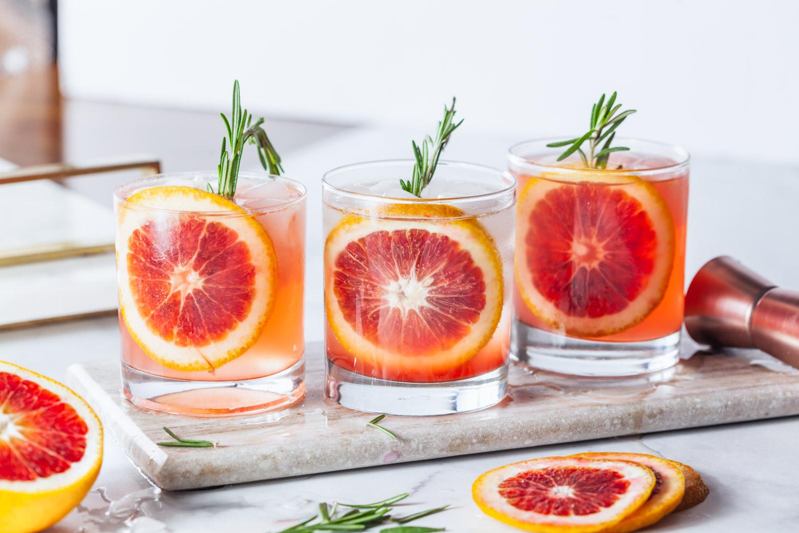 Blood Orange Vodka Sparkler