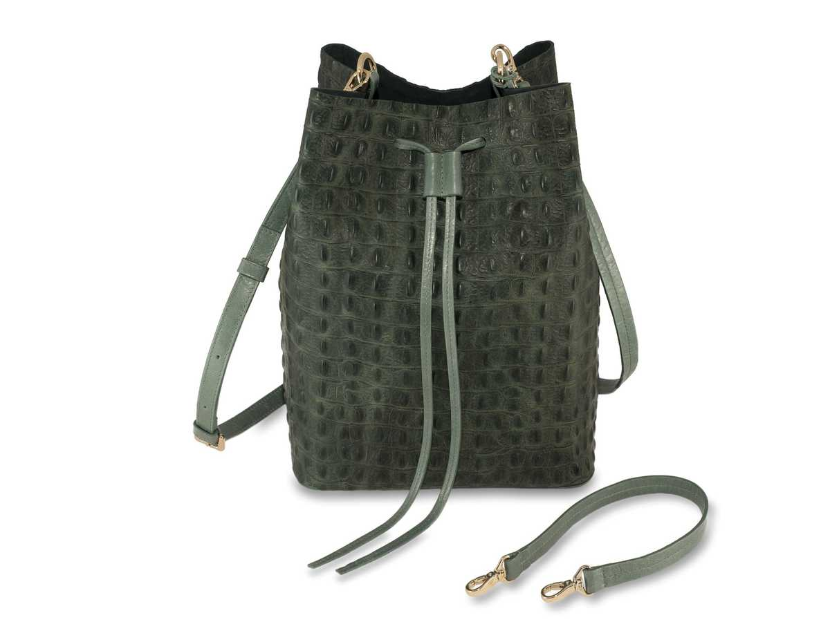 Alya Bucket - croc green