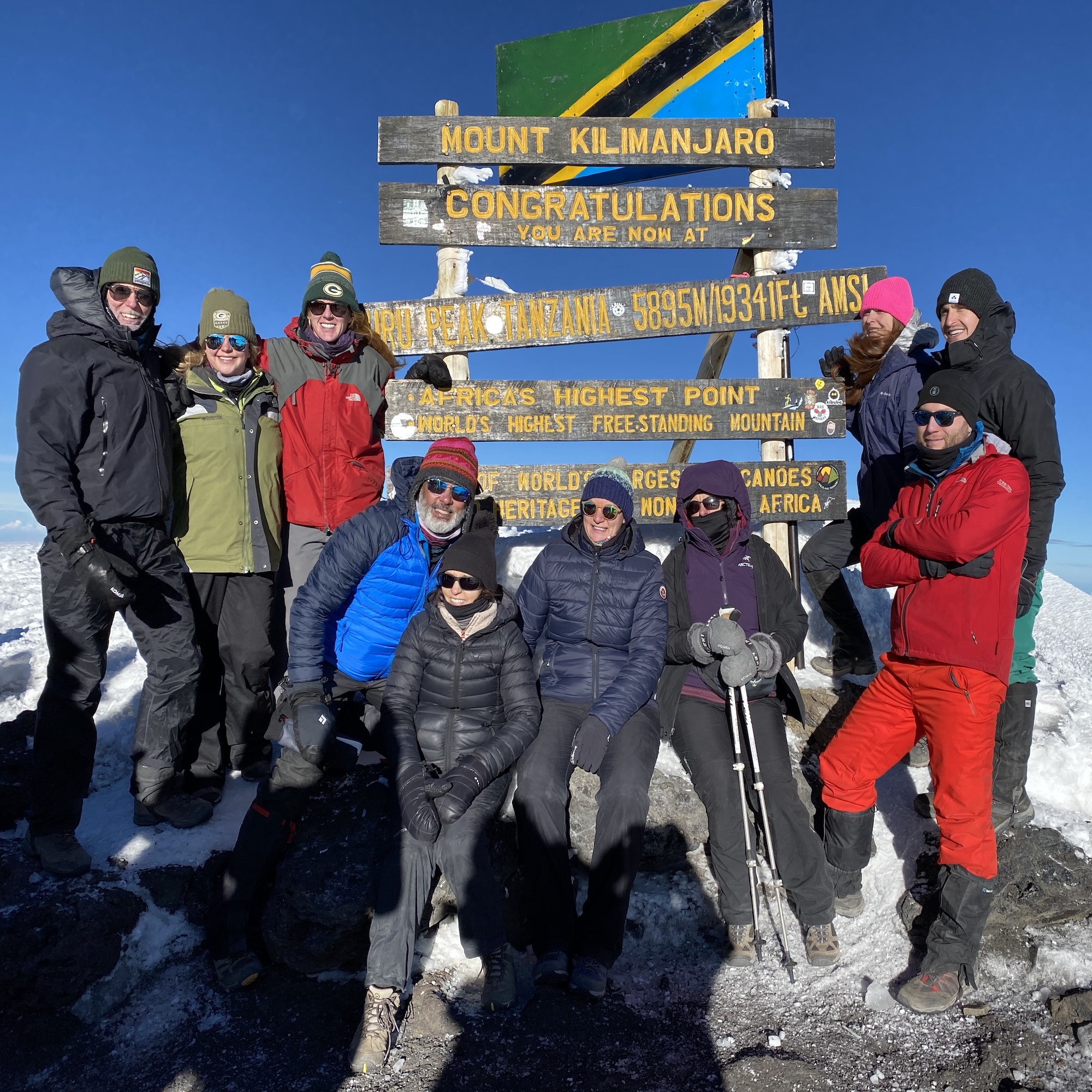 Summit photo of group
