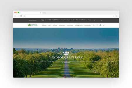 Web design for Windsor Great Park