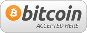 the notorious bitcoin accepted here sign