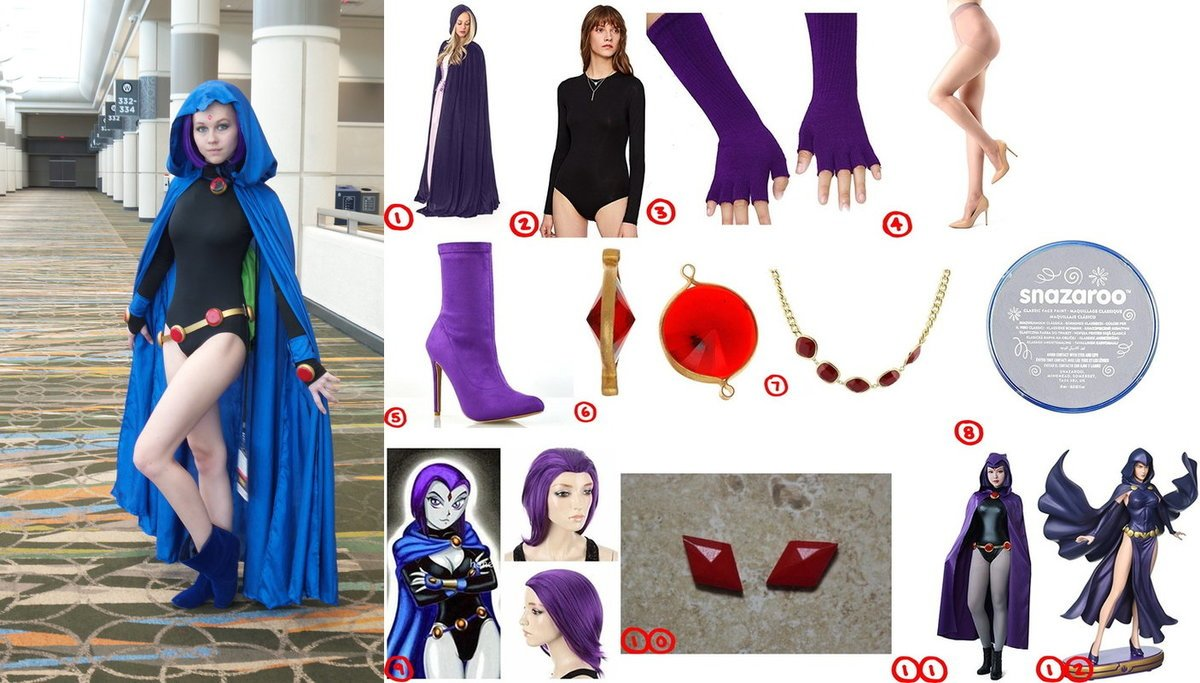 Dress Like Teen Titan Raven Costume For Halloween 2018-9431