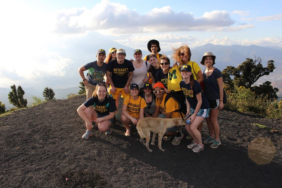 Yes, there's a volcano. But, there's also a dog.