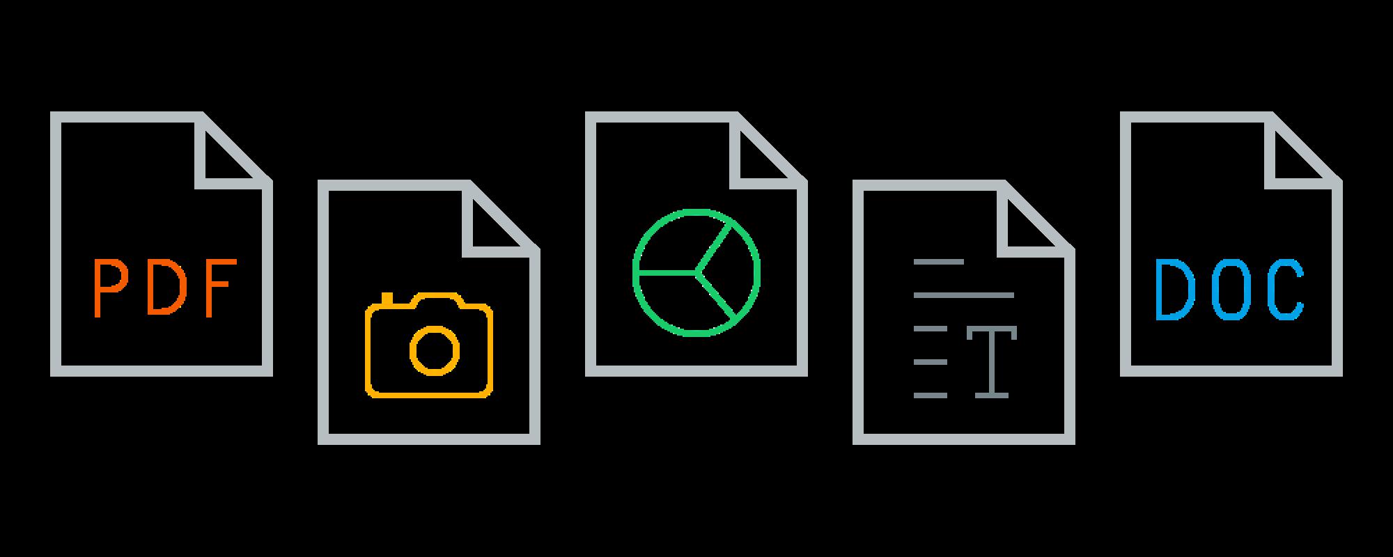 File formats graphic dark