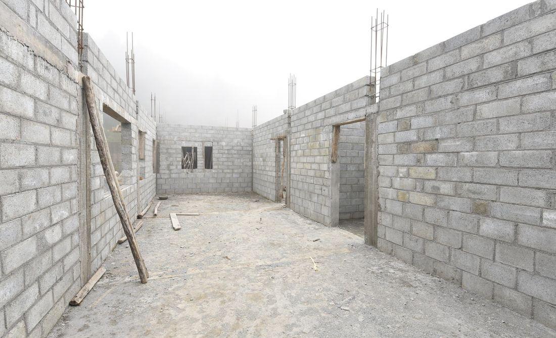 Vitrag Streamside Apartment - Site image of living room in progress