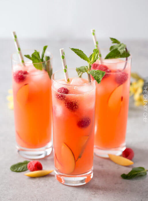 image of raspberry peach lemonade