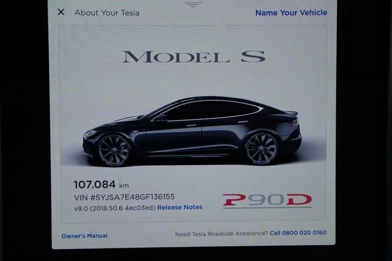 Tesla Model S P90D Performance Ludicrous 576pk / Autopilot / Pano / 21inch / Carbon / 162.500,- Nieuw afbeelding 20