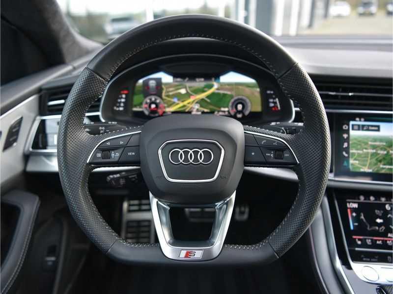 Audi Q8 50TDI 286pk Quattro S-Line Black Optic Lucht RS-zetels B&O High-end Alcant.Hemel TV Head-Up Standk ALLE OPTIES! afbeelding 23
