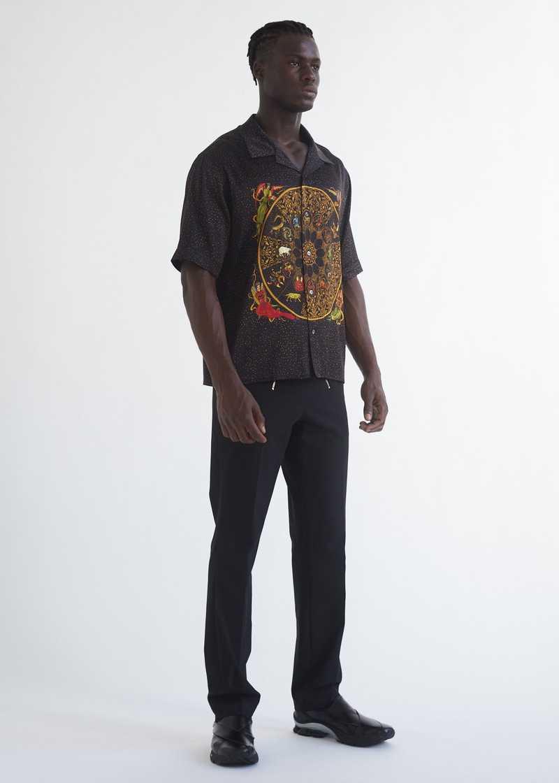Luka bowling Shirt with zodiac print full length