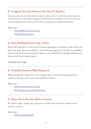 Laravel Security Checklist page 3