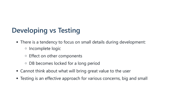 how can we improve the testability 06