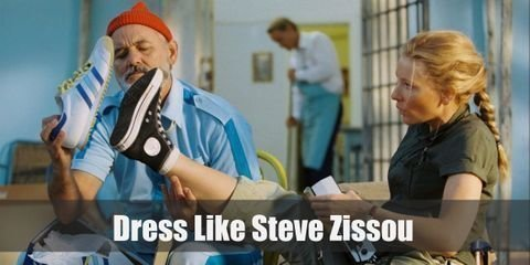 Steve is seen wearing his iconic bright red beanie and an all-blue ensemble. Here is everything you need to look like Steve Zissou