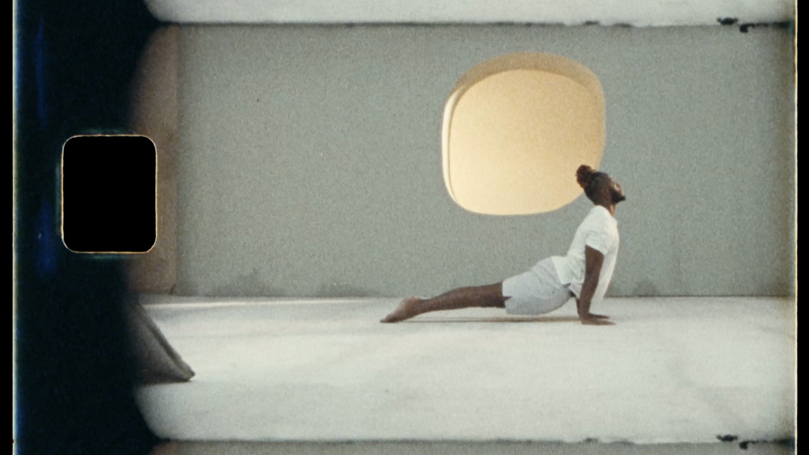 Les Mills Yoga For Now still with film artefact 4