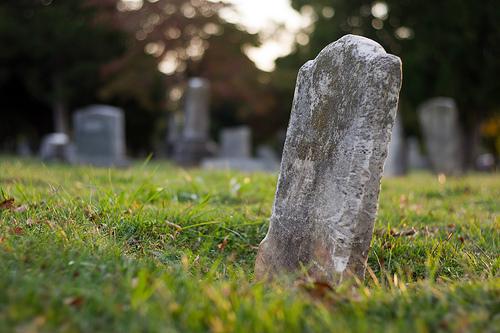 gravestone in cemetary
