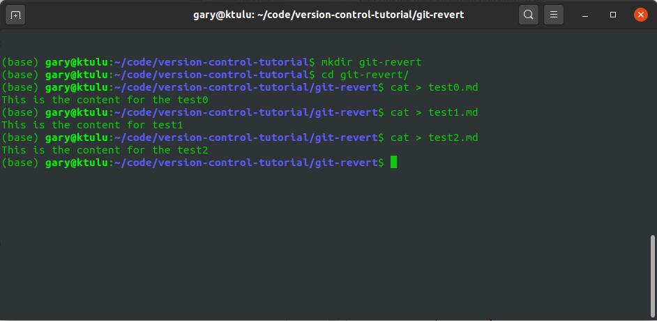 Git Revert git reflog