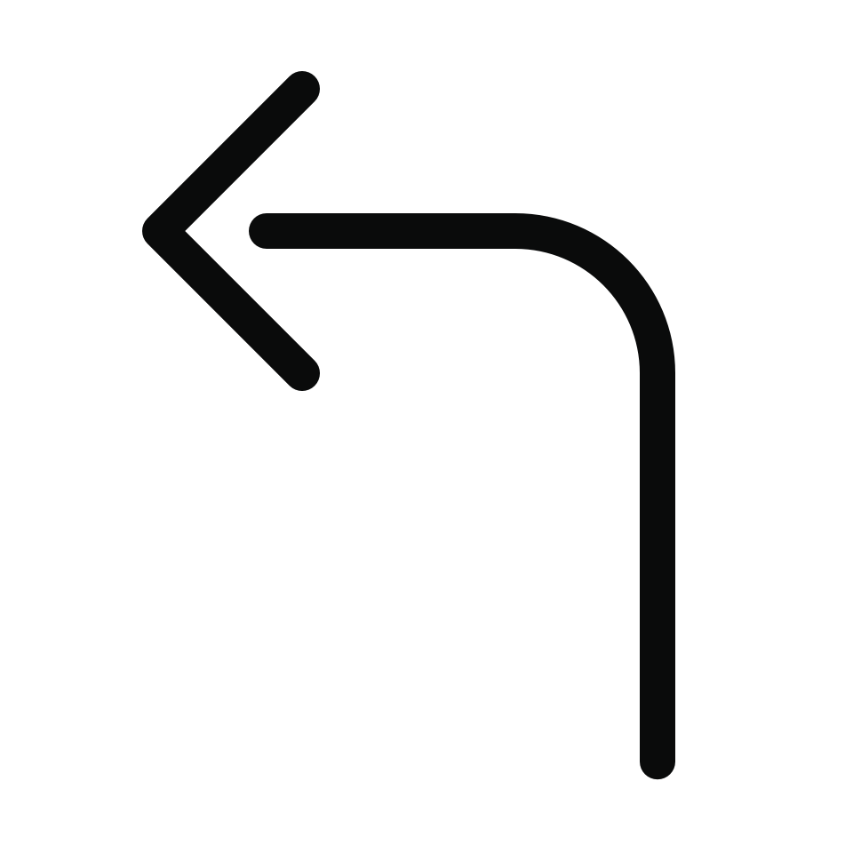 Arrow bend left