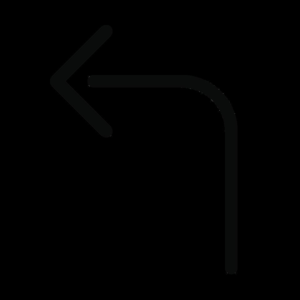 Arrow bend left